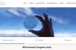 21-24 September 2021, BOA Annual Congress; Aberdeen