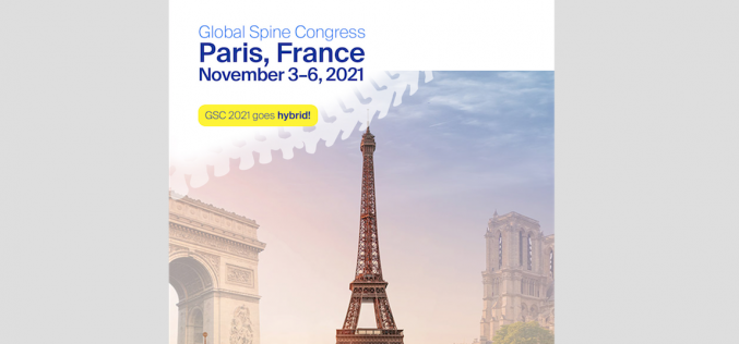 3-6 November 2021, Global Spine Congress; Paris