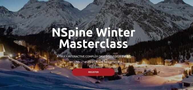 17-21 January 2022, NSpine Winter Masterclass 2022; Arosa, Switzerland